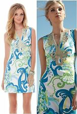 $198 Lilly Pulitzer Janice Resort White Crystal Cost Shift Gold Soutache Dress