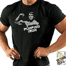 Pumping Iron T-Shirt Weightlifting Bodybuilding Workout Crossfit Kettlebell Gym