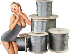 Professional Steel Seil, Zinc Plated O. Stainless 5,10,20,25,50,100 M