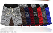 Mens Casual Sport Gym Trousers Training Baggy Rope Jogging Pocket Shorts Pants