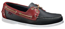 Mens Sebago Docksides Spinnaker Shoe Navy Red 72816 Wide Width