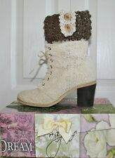Handmade Barley/Wheat Cream Boot Cuffs Boot Toppers Leg Warmers S,M&L