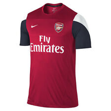 Nike Arsenal FC 2013-14 Soccer Training Jersey Brand New Red / Navy / White