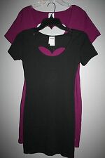 Pink Victoria's Secret Dress Pink Heart Cut Out Form Fitting X-Small & Large-nwt