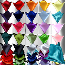 1Pc Hot Fashion Mens Wedding Solid Color Plain Satin Hankerchief Hanky U Pick