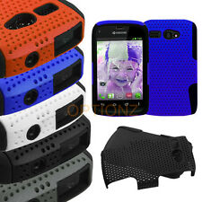 For Kyocera Hydro C5170 APEX Mesh Net Hybrid Skin Case Cover Accessory
