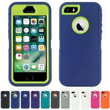 Heavy Duty Tough Shock Proof Defender iPhone 5 5S Case Cover & Screen Protector
