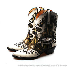 New Collection1051 Leather Cowboy Western Mens Woman Harley Davidson Boots Mix