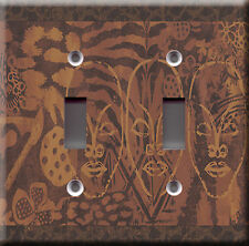Light Switch Plate Cover - African masks - Concept pattern draw art deco style