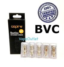 Aspire Nautilus mini & regular coils (BVC) Replacement Atomizer Heads 5 Pack lot