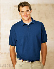 HANES MENS STEDMAN PIQUE POLO SHORT SLEEVE SHIRT 055X ANY COLOR/SIZE