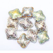 Colorful Wholesale Great Equisite Rhombus Cloisonne Loose Beads