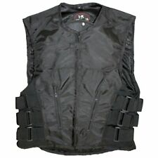 NEW MENS SWAT STYLE MOTORCYCLE ADJUSTABLE VEST w/ ARMOR PROTECTION - K1Y