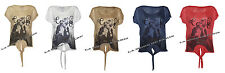 T-shirt donna nuova W14 con stampa Rihanna over-size