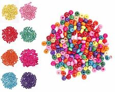 500 Pcs Pretty Colorful Rondelle Wood Spacer Loose Beads Charms Accessories
