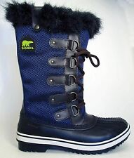 NEW Sorel Tofino Womens Insulated Waterproof Tall Boots Nocturnal Sapphire Blue