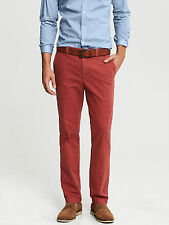 Brand NEW Banana Republic Men's Aiden Slim-Fit Printed Chino Pants Color Red