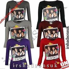 New Girls One Direction I Love You XX Long Sleeve Shirt Top Size 7-13 Years