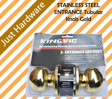 Brass ENTRANCE Tubular Knob Gold DOOR LOCK WITH 3 KEYS 6871PB