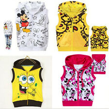 Hot ! Baby Boys Girls Hooded Coat Jacket Jumper Outwear Ages 2-8years Kids