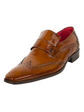 Jeffery West College Honey Scarface Bar Loafer Shoes