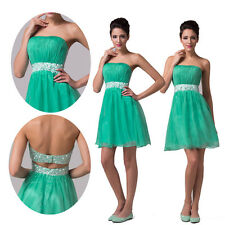 New Sexy Strapless Girls Party Evening Short Mini Prom Homecoming Cocktail Dress