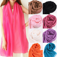 Fashion Large Long Solid Color Scarves Chiffon Wraps Scarf Neck Head Suncreen