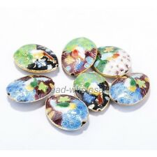 25mm Great Equisite Teardrop Cloisonne Beads Spacer  20Pcs