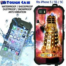 TOUGH Waterproof CASE COVER iPhone 5 5S 5C DOCTOR WHO Dalek Robot DR6