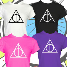 Deathly Hallows TShirt Harry Potter Movie Inspired T Shirt Ladies Girls Top New