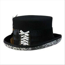 AUSTRALIAN WOOLVICTORIAN STEAMPUNK TOP HAT BY CONNER HATS (FORMERLY COV-VER)