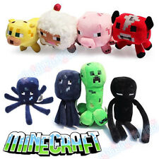 Minecraft Enderman Baby Mooshroom Pig Squid Ocelot  Creeper Plush Soft Toys CE