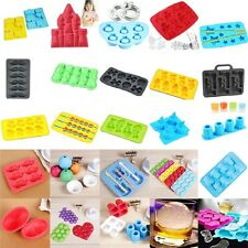 Silicone Mould Mold Ice Cube Tray Chocolate Cake Muffin Cupcake Molds DIY