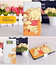 2014 Hot sale Winnie the Pooh Tigger PU leather Flip case cover for Samsung 02