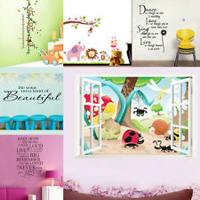 Art Vinyl Quote Wall Stickers Decal Mural Home Kids Decor Family DIY Removable