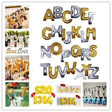 "16"",40"" Letter number Helium Foil Balloon Silver/Golden Birthday Wedding Party"