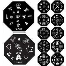 1PC Nail Art Image Stamp Stamping Plate Manicure Template DIY Decoration QA31-40