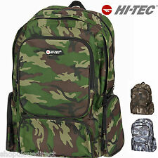 HI-TEC Camo Adult  Rucksack Backpack School Bag Kit Camouflage Army man ladies