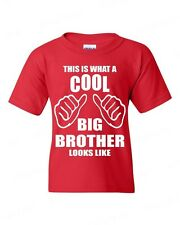 This is what a cool BIG BROTHER Looks Like funny YOUTH T-SHIRT birthday newborn