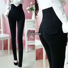 Fashion Women Zip Pencil Pants High Waisted Slim Stretch Leggings Trousers Pants
