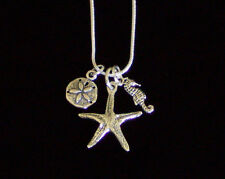 "New! 925 Sterling Silver Sea Life Charm Necklace 20"" or 30"" Snake Chain"
