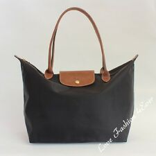 Free Express Longchamp Le Pliage France Large Nylon Tote Bag Handbag Long Strap