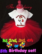 Toy Story Jessie Cowgirl Birthday red tutu outfit name age shirt headband 1st -7