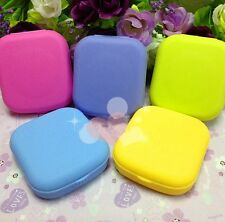 Lovely Mini Contact Lens Case Box Travel Kit Mirror Container Holder Candy Color