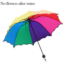 Lady Girl Princess Flouncing Dome Parasol Folding Magic Flower Sun/Rain Umbrella