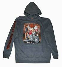 Harley-Davidson Men's Grease Girls Pull Over Hooded Sweatshirt Gray 30293174