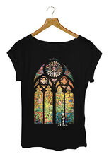 BANSKY STAINED GLASS  T-shirt Womens Black - Small to Large Available