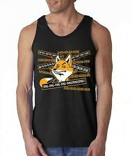 FOX ring ring ding ding funny TANK TOP what does the Fox says tee