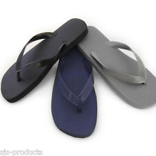 Mens Flip Flops Plain Black/Grey/Blue Sizes 7 to 12 Beach Sandals BRAND NEW UK