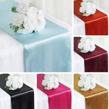 "5 pcs SATIN 12x108"" Table RUNNERS Wedding Party Catering Decorations on Budget"